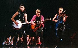 Dixie Chicks performing at Madison Square Garden on June 20, 2003 during Top of the World Tour.