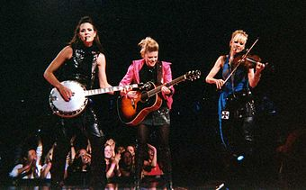 Dixie Chicks the most awarded performers with four wins. DixieChicksMSG062003.jpg