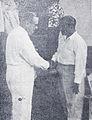 Djamaluddin Malik meets with Cuban Ambassador at Persari Dunia Film 1 Apr 1955 p17.jpg