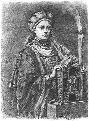 Doubravka of Bohemia - Dobrawa of Bohemia, by Jan Matejko