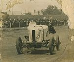 "Don Harkness at the wheel of his Overland Sports car ""Whitey"" at race meeting, 1920 - 1929 (4580644722).jpg"