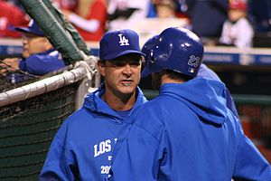 Don Mattingly - Mattingly with the Dodgers