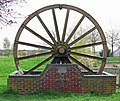 Donisthorpe Colliery winding wheel - geograph.org.uk - 797671.jpg