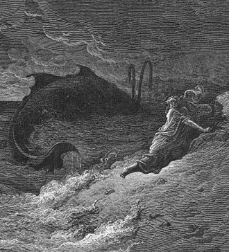 Book of Jonah - Jonah Cast Forth By The Whale, by Gustave Doré.