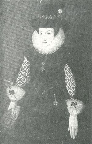 Bramall Hall - Dorothy Davenport in 1627, at the age of 66