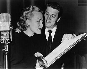 The Railroad Hour - Dorothy Kirsten and Gordon MacRae at work on the program, 1950