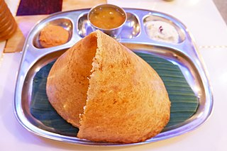 Dosa Thin crepes originating from South India