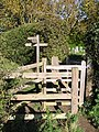 Double kissing gate outside the church at Fishbourne - geograph.org.uk - 1021643.jpg
