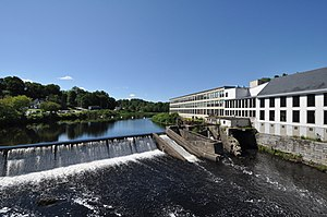 National Register of Historic Places listings in Piscataquis County, Maine - Image: Dover Foxcroft ME Woolen Mill