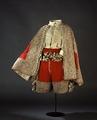 Dräkt i rött och silvertyg som tillhört Karl X Gustav - Livrustkammaren - 65159.tif