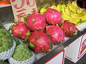 Pitaya - Pitaya at a market stall in Taiwan
