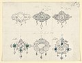 Drawing, Design for six brooches, with satyrs and diamonds, 1870–80 (CH 18548125).jpg