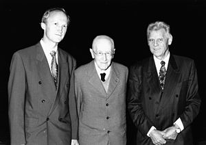 Zabergäu-Gymnasium Brackenheim - Three generations of headmasters: from left: Mr. Frey, Mr. Aßfahl, Mr. Oberhauser