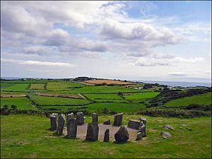 Drombeg stone circle - Image: Drombeg Stone Circle 2004