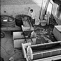 Druiventrossen worden in een ontsteler geschept alvorens ze worden geperst, Bestanddeelnr 254-4211.jpg