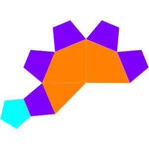 Elongated pentagonal pyramid - Image: Dual elongated pentagonal pyramid net