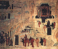 A complete view of the painting.