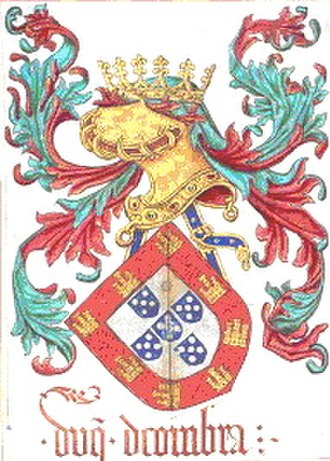 Portuguese heraldry - Coat of arms of George, duke of Coimbra, as bastard son of King John II.