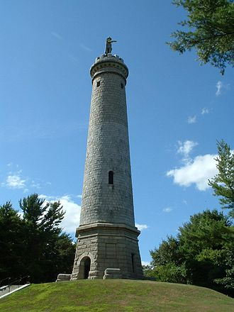 Duxbury, Massachusetts - The Myles Standish Monument, not far from the site of his home