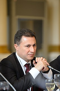 Nikola Gruevski Macedonian politician
