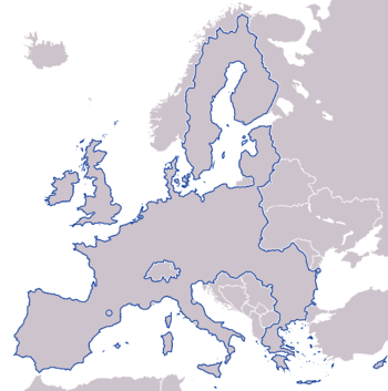 EU borders in Europe