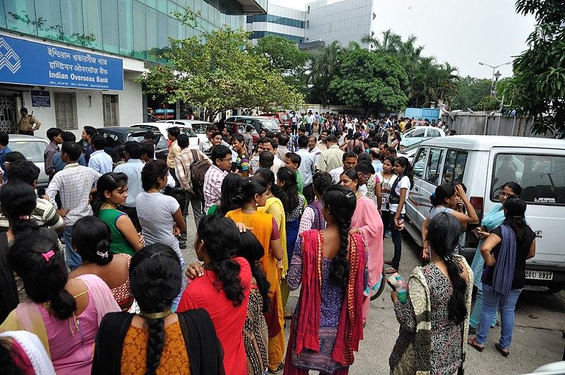 File:Earthquake Leads Office Evacuation - Ashram - Sector-V - Salt Lake City - Kolkata 2015-05-12 7046.JPG