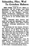 Eddie August Schneider (1911-1940) marriage in the Trenton Times on June 25, 1934.png