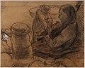 Edgar degas (attr.), donna con bambino.jpg