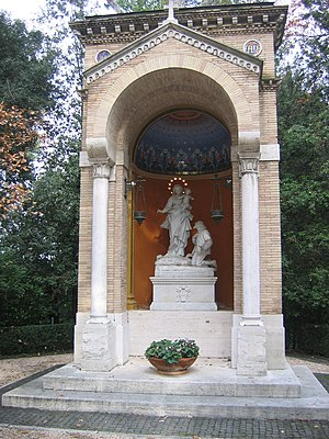 Shrine of Nostra Signora della Guardia - The small temple of N.S. della Guardia in the Gardens of Vatican City