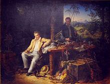 Alexander von Humboldt und Aimé Bonpland am Orinoco, Gemälde von Eduard Ender, 1856[28] (Quelle: Wikimedia)