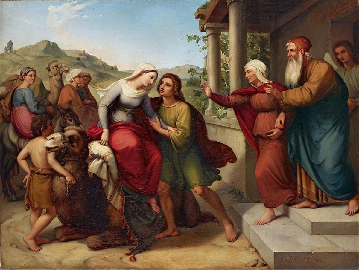 Eduard Ihlée Saras Ankunft im Hause Tobia 1839.jpg