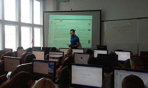 Education program of Wikimedia Serbia at the Faculty of Philology University of Belgrade 03.jpg
