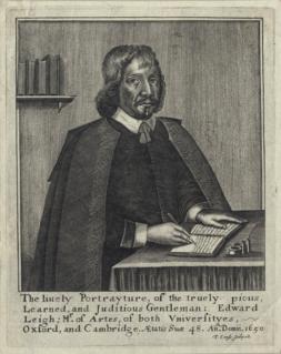 Edward Leigh (writer) English writer