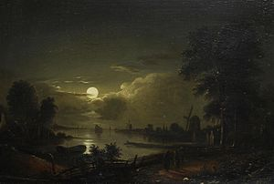 Edward Williams (painter) - Edward Williams River by Moonlight