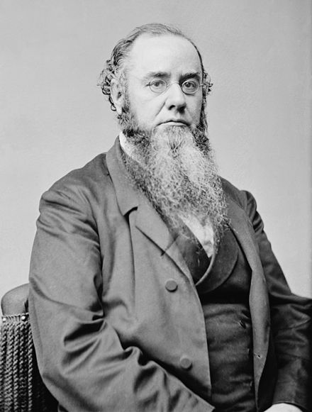 Edwin McMasters Stanton, Lincoln's Secretary of War, whom Johnson tried to remove from office Edwin McMasters Stanton Secretary of War.jpg