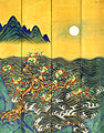 Eight-Fold Screen Painting of the Sun, Moon and Peach Trees 02.jpg