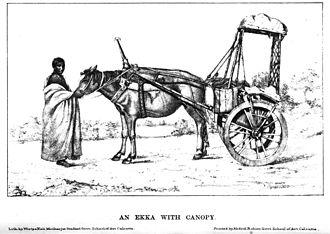 Ekka (carriage) - An ekka from Bihar (c. 1885)
