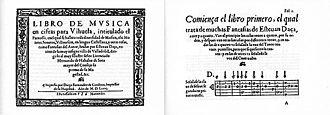 Esteban Daza - Cover and first page of El Parnaso.
