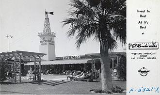 El Rancho Vegas - El Rancho Las Vegas postcard 1940s