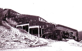National Register of Historic Places listings in Beaverhead County, Montana - Image: Elkhorn Mine Mill 1917