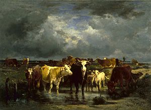 Émile van Marcke - The Approach of a Storm (around 1872), Baltimore, Walters Art Museum