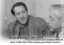 Jacques-B. Brunius and Jacques Prévert in 1961