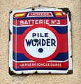 Enamel Advertising sign, Pile Wonder Batterie No3.JPG