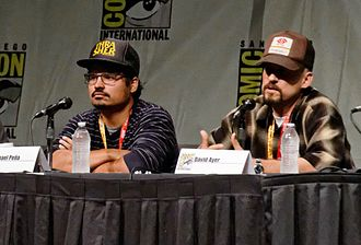 End of Watch - Michael Peña (left) and David Ayer promoting the film at the 2012 San Diego Comic-Con International