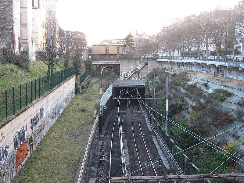 File:Entrée Est Tunnel RER A.jpg