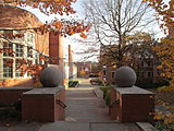 A picture showcasing the entrance to Butler College