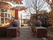 Entrance, Butler College, Princeton University, Princeton NJ