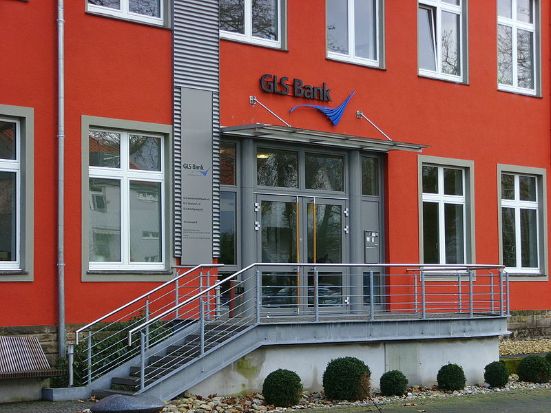 File:Entrance GLS bank, Bochum, Germany.jpg