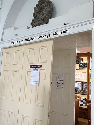James Mitchell Geology Museum - Entrance of the James Mitchell Geology Museum