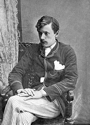 English: Portrait photo of English poet Ernest...